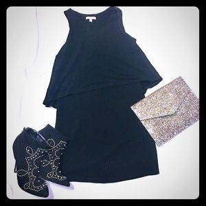 Gianni Bini Tiered Little Black Dress